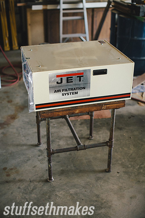 Mounting A Jet Air Filtration System : Jet air filtration system afs b stuff seth makes