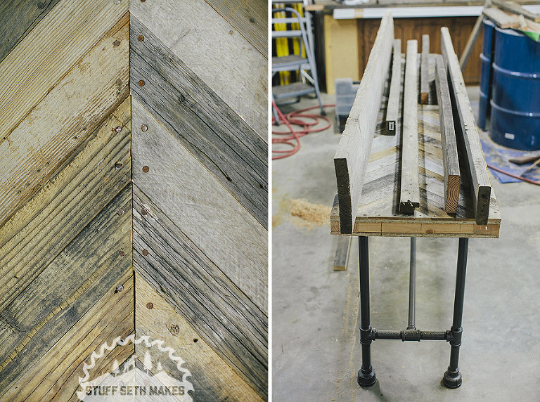 recycled-chevron-wood-table-pipe-table-legs