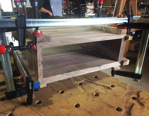 furniture-design-miter-box-black-walnut-bessey-clamps