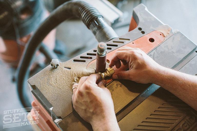 ridgid-oscillating-spindle-sander-shaping-brass-rod